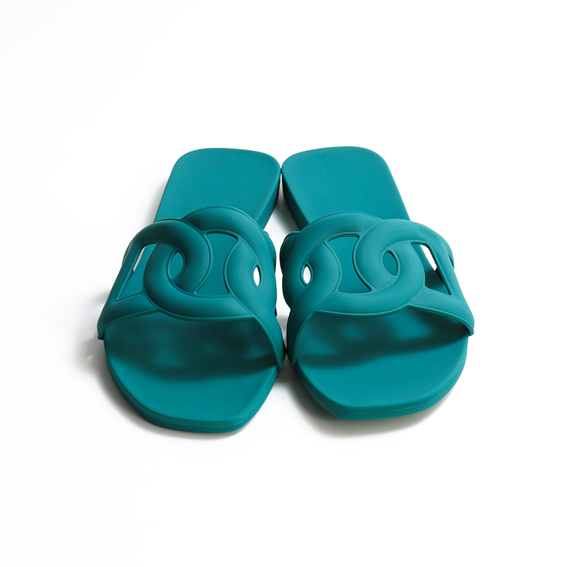 Ladies Shoes Flat Casual Aloha Sandal Outdoor PVC Jelly Slides One Tong Ladies Flat Slippers women shoes slipper