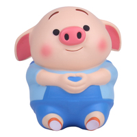 New Design Squishy Animal Kawaii Pig Shaped PU Foam Slow Rising Stress Relief Toy For Gifts