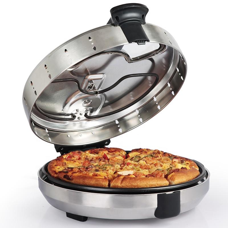 1200W Automatic Pizza Maker Adjustable Temperature Control Pizza Oven