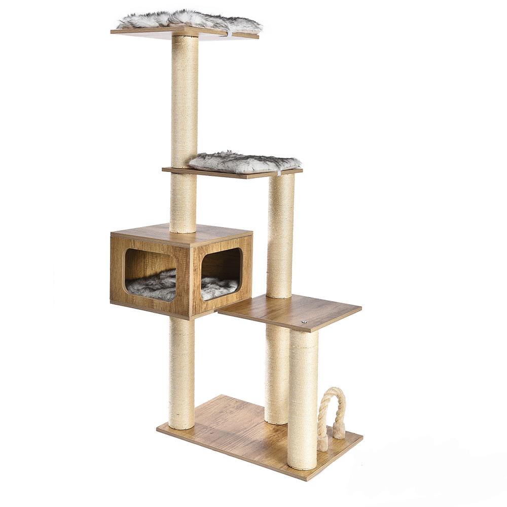 Fabricante por atacado Não-Tóxico Estável Confortável Escalada Gato Grande Casa Na Árvore, Casa Da Árvore Do Gato, Árvore Do Gato Scratcher