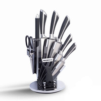 9 Pcs Household Kitchen Cooking Stainless Steel Knife Set