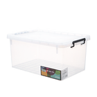 Wholesale large capacity toy clothes storage clear 80 litre plastic storage box