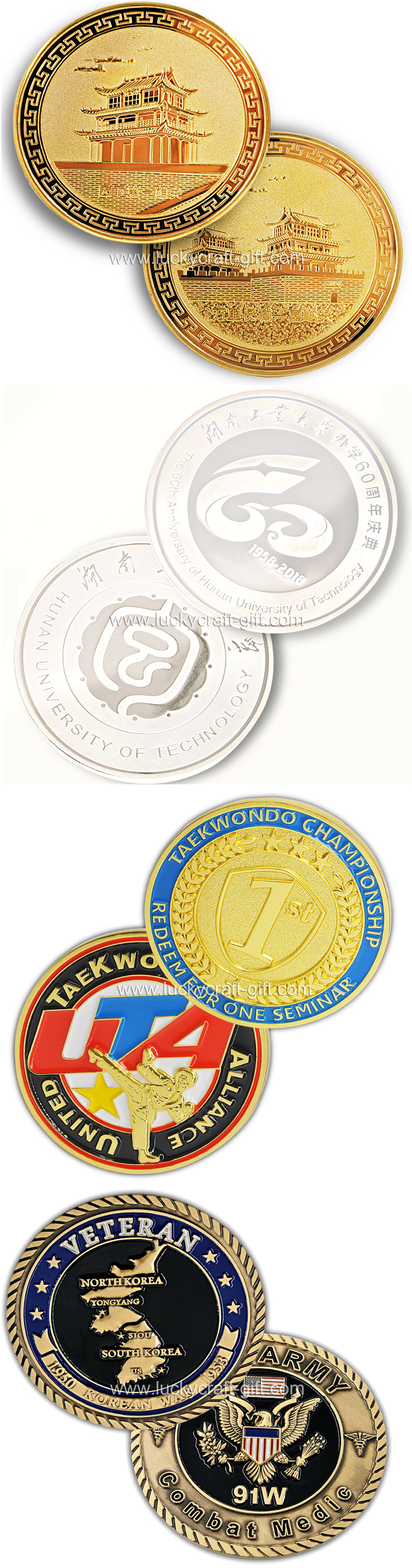 Cheap custom gold commemorative collectible no minimum coins
