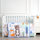 Cartoon Bear Design Wholesale Newborn Baby Comfortable 100 Cotton Crib Bedding Set