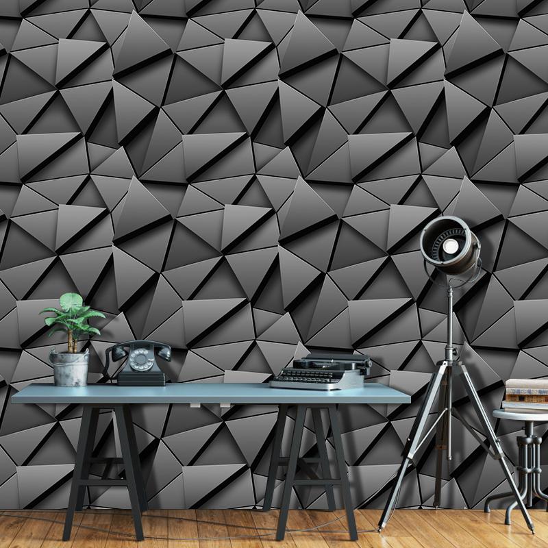 YIYAO Moderne schwarz ziegel 45cm x 10m selbst-adhesive wallpaper bar zähler balkon umwelt renovierung wasserdichte tapete