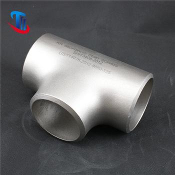 China carbon steel tee A234 WPB DN250 X DN80 SCH 40 Seamless Reducing Tee with good quality