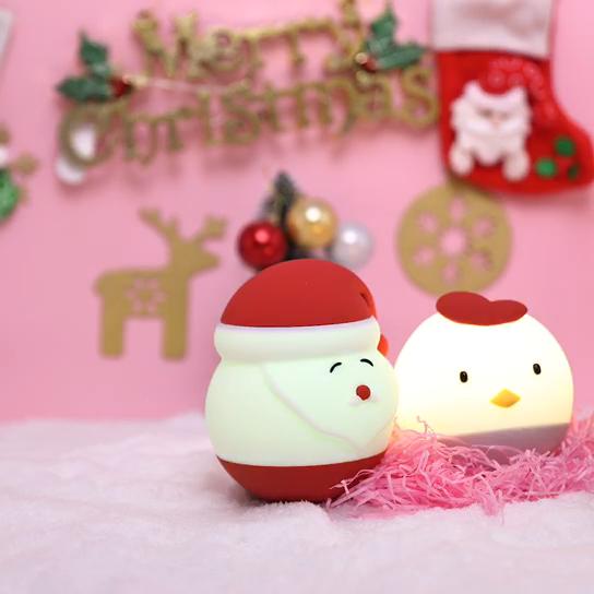 सांता क्लॉस क्रिसमस दीपक बच्चों रात को प्रकाश नरम सिलिकॉन समायोज्य बच्चे रात को प्रकाश के साथ टच सेंसर