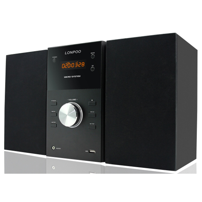 नए निजी डिजाइन उच्च गुणवत्ता माइक्रो hifi ऑडियो सिस्टम के साथ बीटी, एफएम, डीवीडी, सीडी