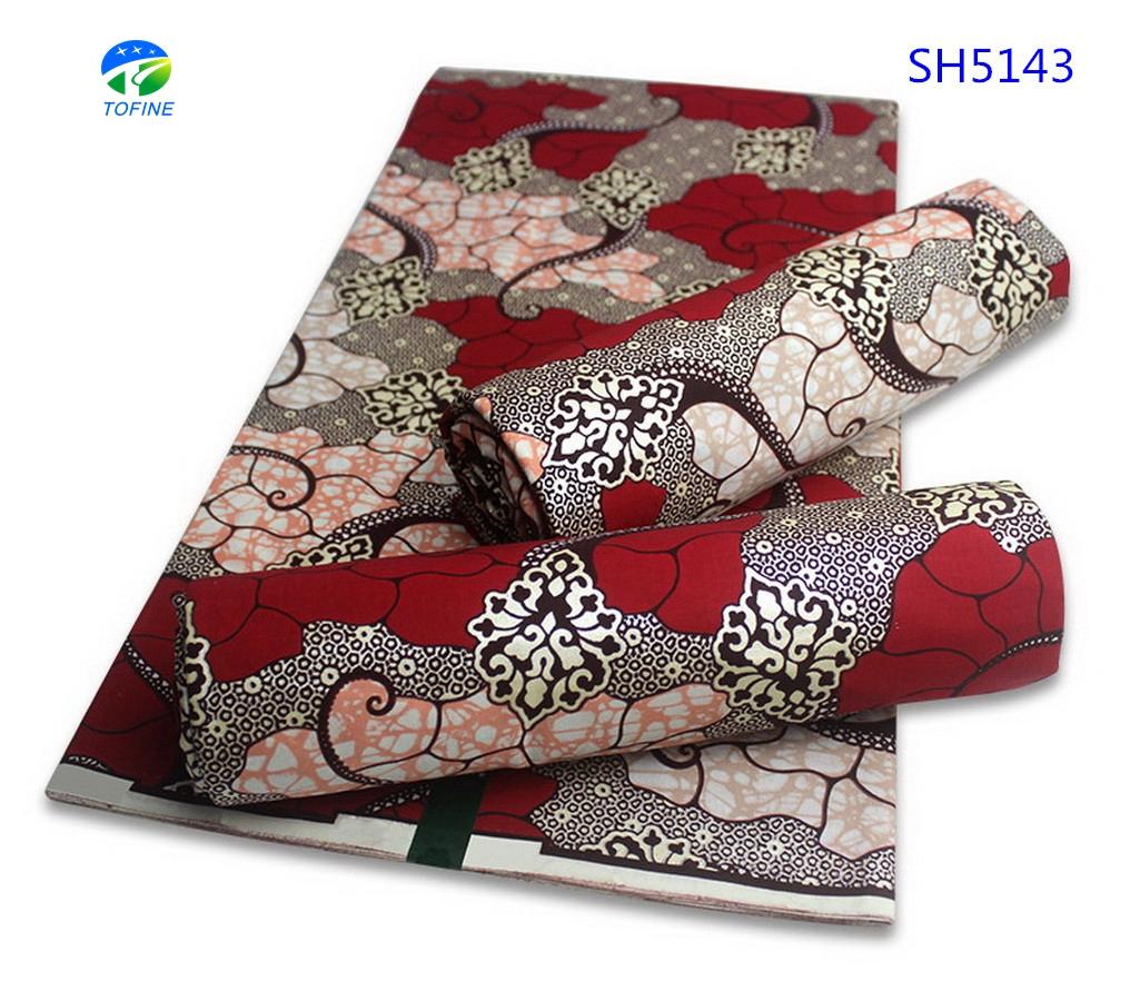 Super hot sale design golden african wax printed fabric 100%cotton 6 yards holland wax