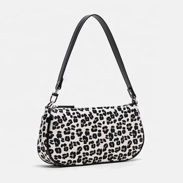 Wildleder leder leopard print unterarm handtaschen für frauen hand taschen vintage dame geldbörsen handtaschen
