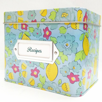 Recipes tin box for hot selling