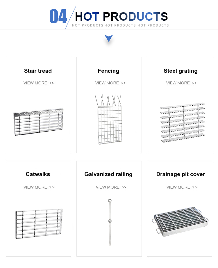 Good quality hot dip galvanized perforated Steel Stair tread