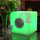 Wireless waterproof music player box LED illuminated 20cm cube Bluetooth Speaker