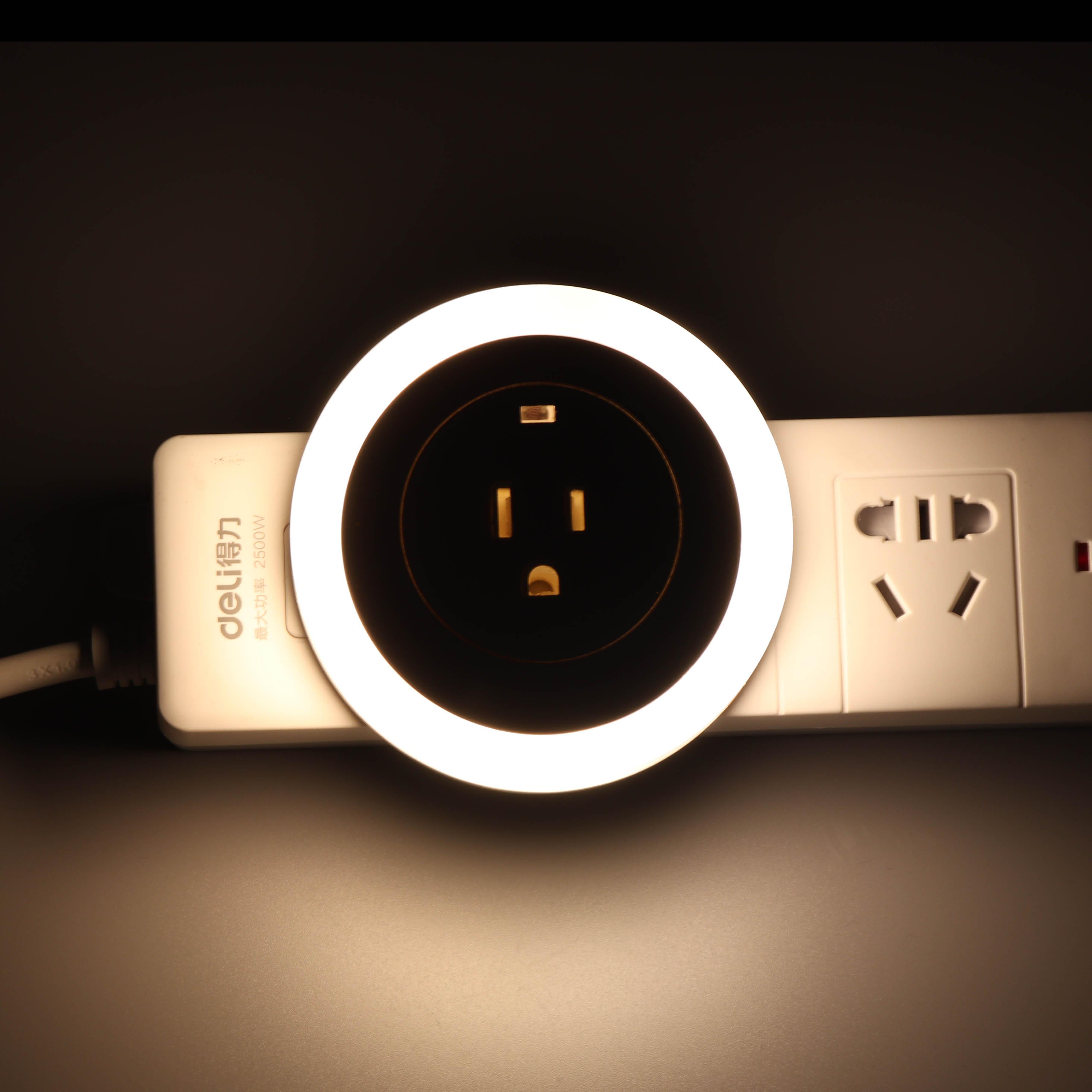 GE/CE/ROHS/UL/CUL certified double USB charger LED sensor night light LED Night Wall Lamp