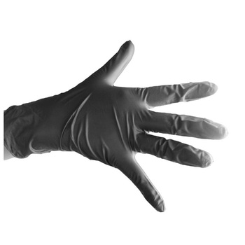 industry or meidical used black nitrile disposable gloves