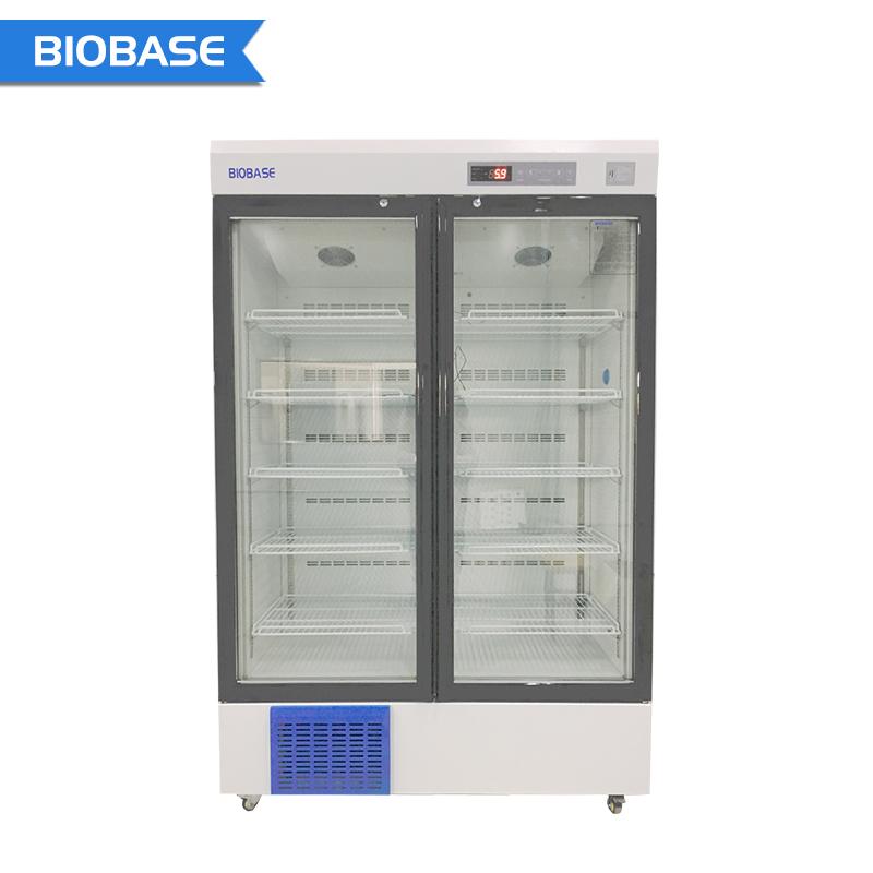 Biobase China Laboratory Pharmacy Refrigerator Single Glass Door High-precision 2-8 Degree Temperature