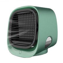 USB мини-вентилятор для охлаждения воздуха, кондиционер с ночным светильник, портативный увлажнитель, настольный воздушный кулер, многофунк...(China)