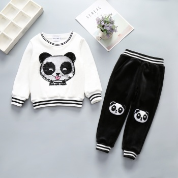Kids Clothing Sets Winter 2-14 Years Boys Clothing Sets Winter Velvet Sets Made in China