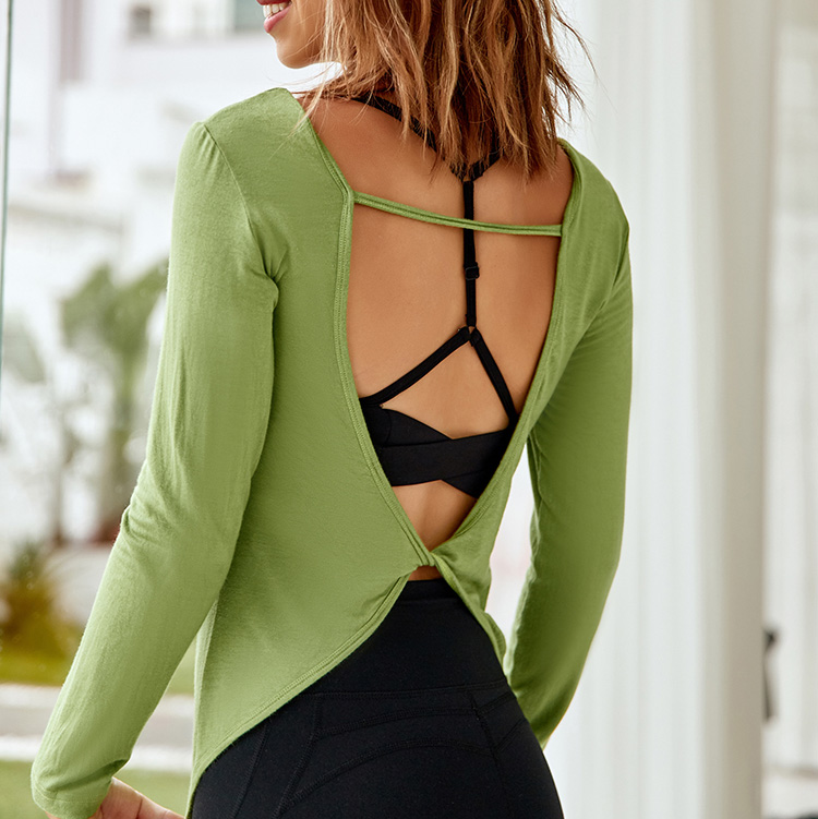 Wholesale Long Sleeve Blouses Gym Fitness Yoga Wear Women Long Sleeve T Shirt