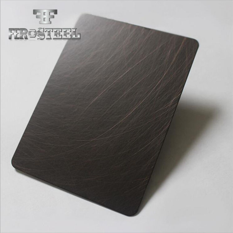 bending 1.0mm thickness regular size pvd black coating 304 316 vibirtion stainless steel sheet