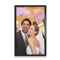 China 21.5 inch Acrylic USB Flash Drive Full HD 1080P Digital Photo Frame with Video Input for Wedding