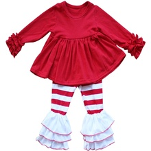 Hohe Qualität Herbst Winter Persnickety Remake Outfit Weihnachten Kunden Baby Mädchen <span class=keywords><strong>Kleidung</strong></span> Sets Günstige Boutique Outfits