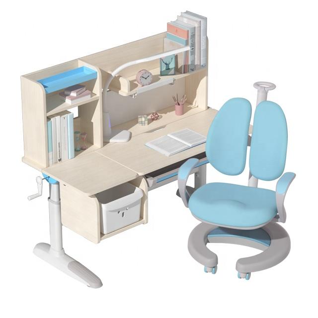 IGROW hot sale kids room furniture height adjustable kids study table and chair set