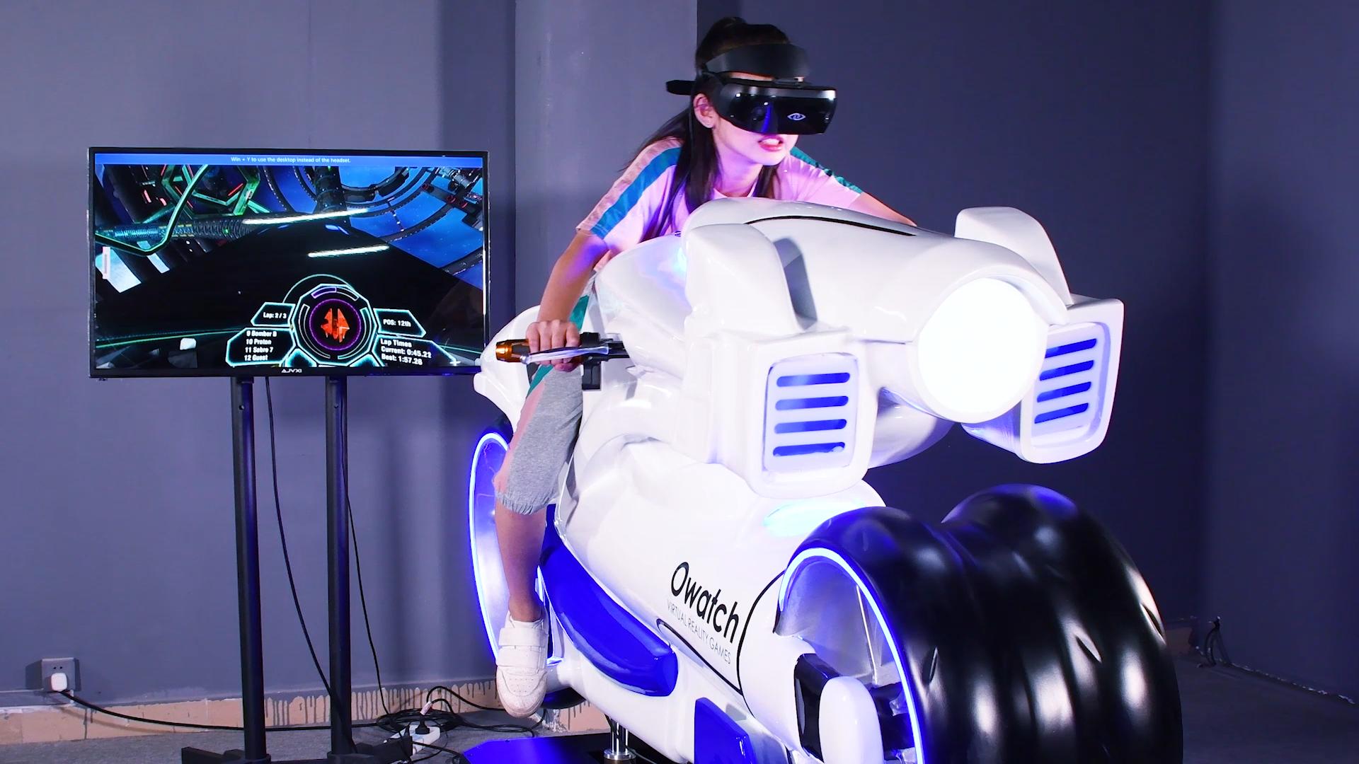 VR Kedatangan Baru Sepeda Motor Tinggi Perasaan Nyata Kecepatan Balap Fashion VR Permainan Simulator untuk VR Theme Park