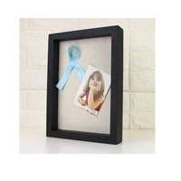 "Black deep 3D display frame 12x15"" Display Shadow Box Frame with Linen Background"