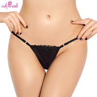 High quality women transparent sexy lace up g string