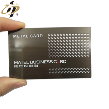 aluminum stainless steel round edge custom multicolor metal business card