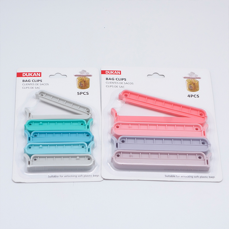 Creative plastic storage sealing bag clips  environmentally friendly bag closure clip moisture-proof clip