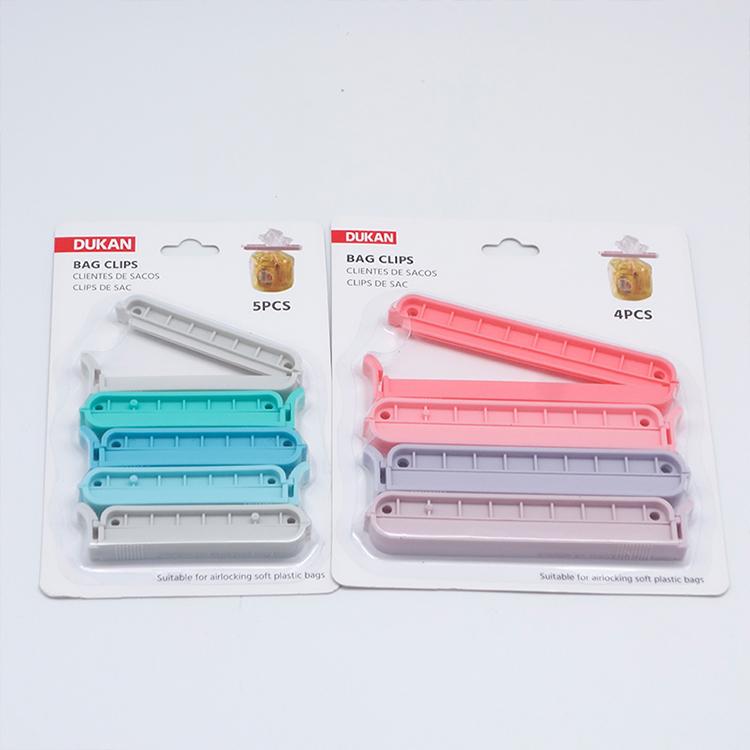 High quality Environmentally friendly Plastic Food Bag Sealer Sealing Clip Dukan W440002 Sealing Bag Clips