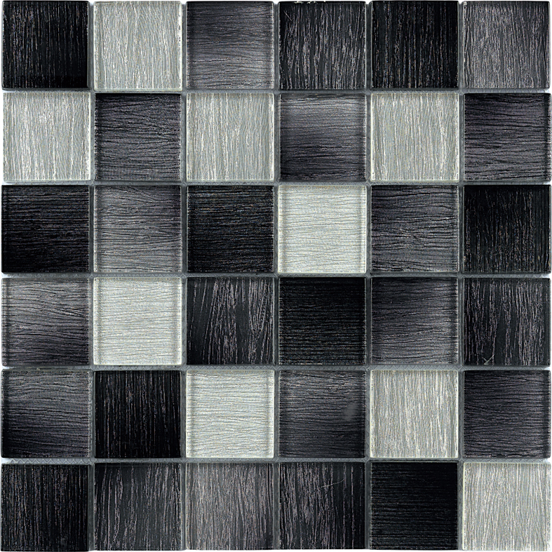 Top Selling Laminated Glass Mosaic tile Grey Mosaic for bathroom and kitchen Foshan China