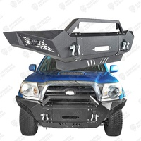 Black Textured Steel Front Bumper for Tacoma Bumper 4X4 Parts Offroad Accessories