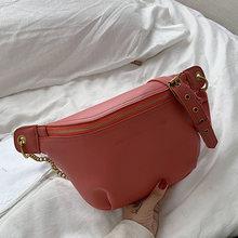Женская модная поясная сумка, поясная сумка из искусственной кожи, брендовая нагрудная сумка через плечо, Высококачественная Женская поясн...(Китай)
