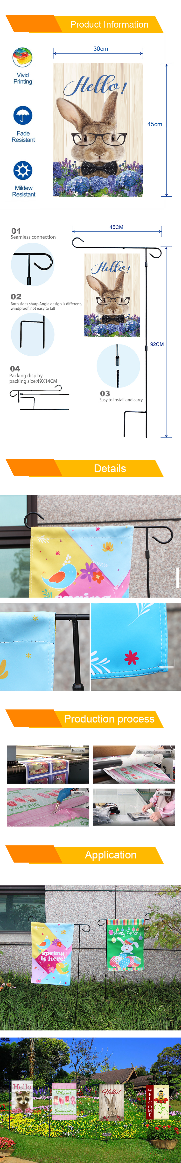 Custom Hot Sale Merry Christmas Garden Flag High Quality Heat Sublimation Printing Double Sides