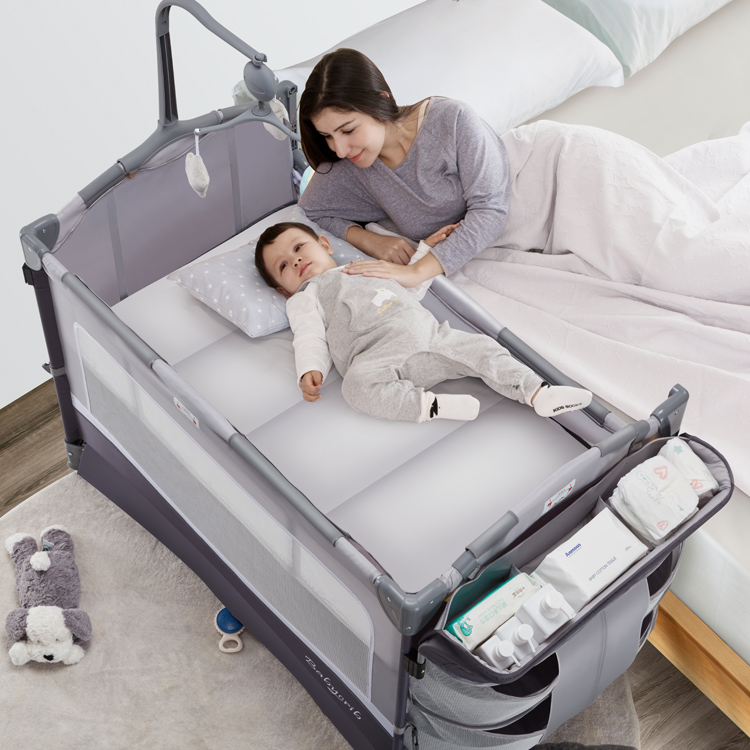 Multi Function Foldable Portable Baby Cot Bed Playard Baby Crib/cunas