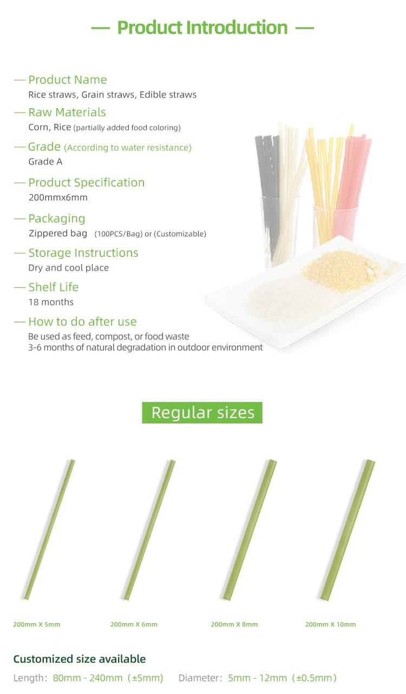 Precio Favorable de paja de arroz comestible