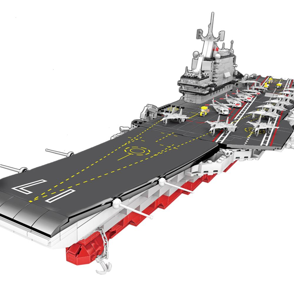 2126Pcs DIY Military Series Building Block Model Educational Toy Set - 2-in-1 No. 001A and Liaoning Aircraft Carrier
