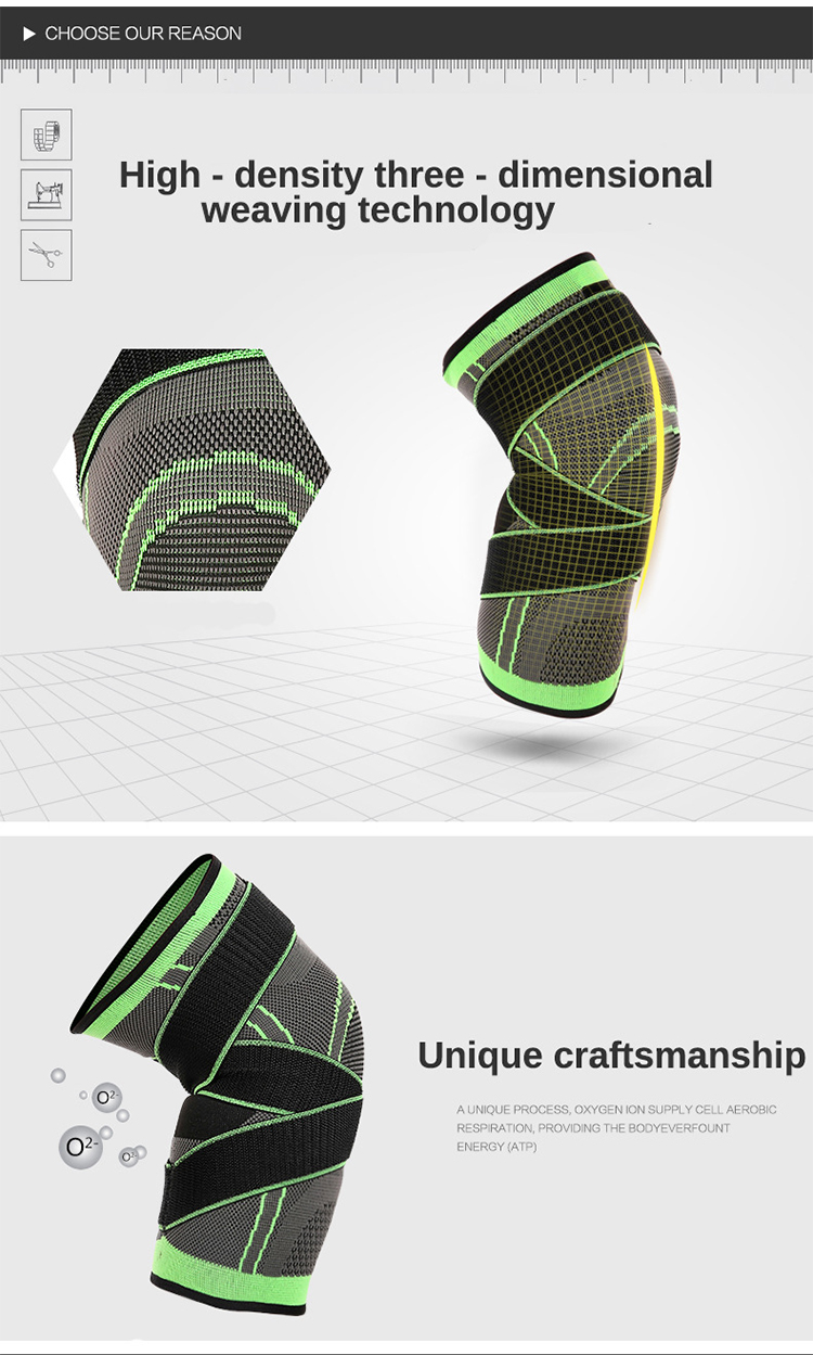 High Quality Knee Compression Non-slip Sleeve Support for Sports Protective Breathable Nylon Knee Pads