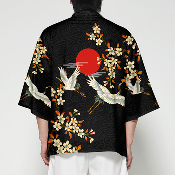 Kimono Male China Wind 3d Surplices Cardigan Japanese Style Shirt Cloak Clothes traditional vintage clothing