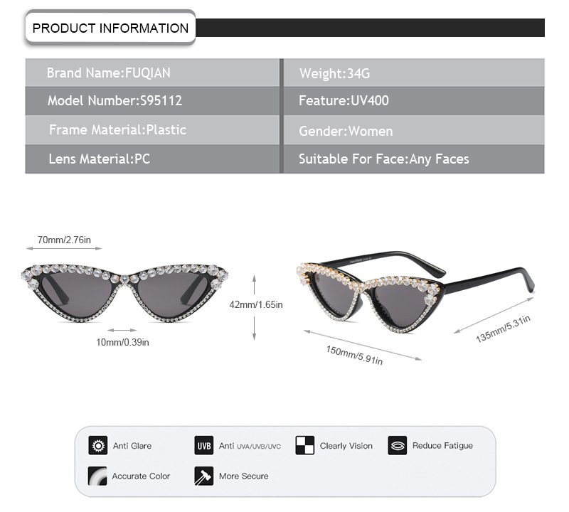 Fuqian women round sunglasses women Suppliers for women-9