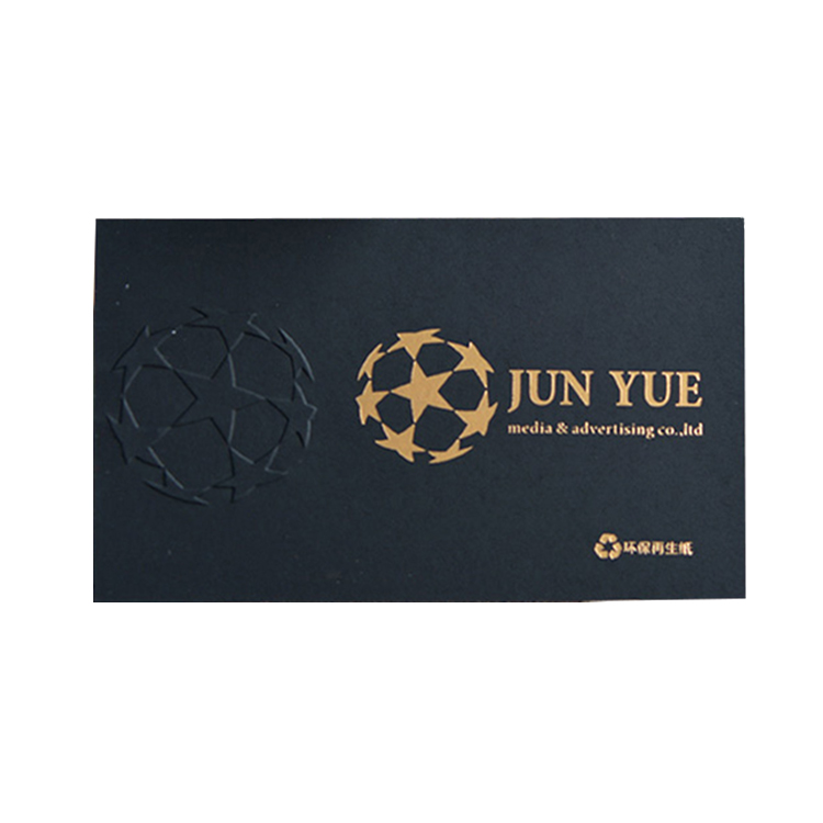 unique deluxe hot stamping gold foil embossed business card