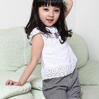 2019 top summer fashion children baby jeans kids clothing set for girl