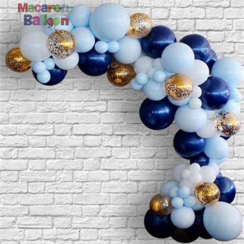 150PCS Blue/ Navy Balloon Garland Kit Boy <strong>First</strong> Birthday <strong>Baby</strong> Shower Wedding Shades of Navy Blue Confetti Balloons Arch KK781B