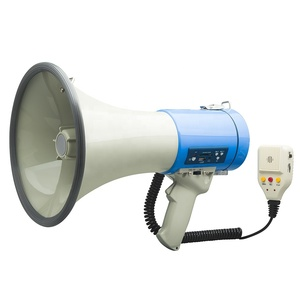Professional out door Large Bell Transistor Megaphone with Detachable Microphone