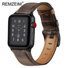 Ремешок для часов ручной работы в стиле ретро, двухсторонний кожаный ремешок для часов Crazy Horse, 18 мм 20 мм 22 мм, быстросъемный пружинный ремешо...(Китай)