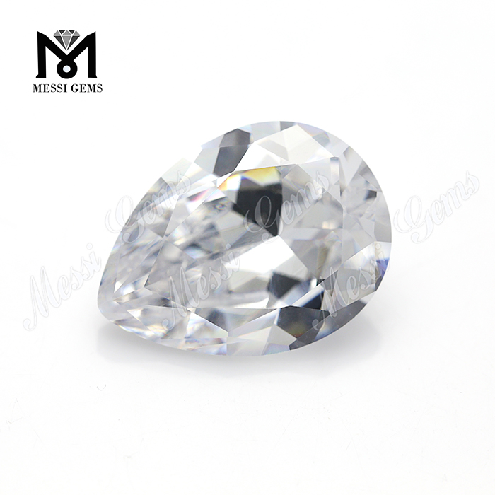 1000pcs/bag high quality white cubic <strong>zirconia</strong> 2*3-12*16mm <strong>pear</strong> CZ for jewelry