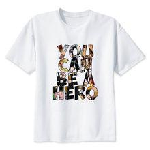 Женская Винтажная футболка в стиле Харадзюку My Hero academic, футболка большого размера с эстетической графикой, забавная одежда японского аниме(Китай)